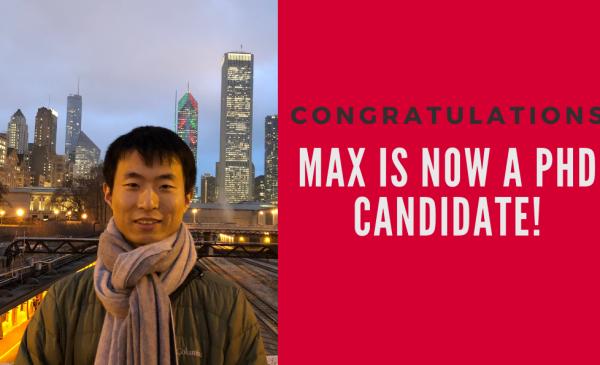 Congratulations Max!